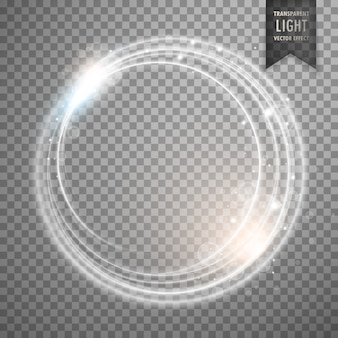 Transparant terwijl licht effect vector design