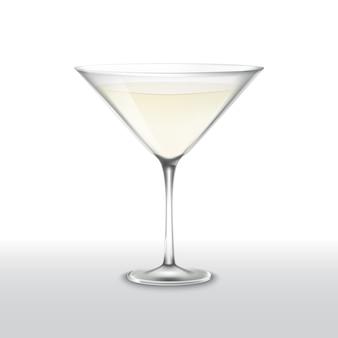 Transparant vectorglas met martini