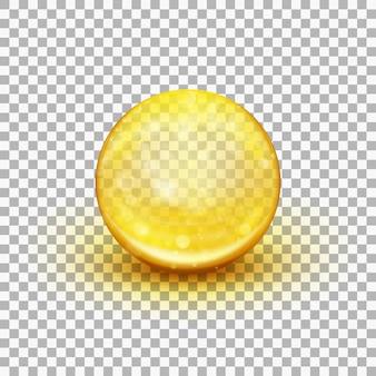 Transparant zacht gel capsule-object. visolie. en omvat ook