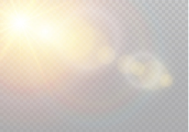 Transparant zonlicht speciaal lens flare lichteffect. kerst abstract patroon. sprankelende magische stofdeeltjes