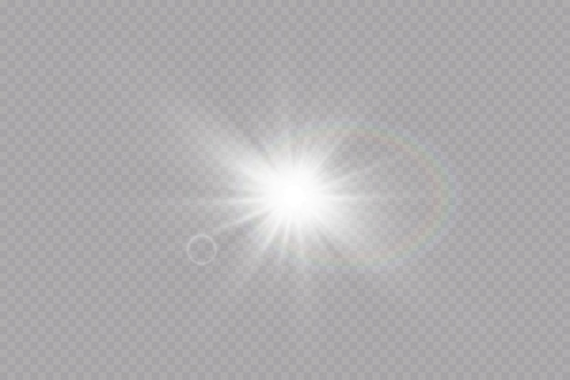Transparant zonlicht speciaal lens flare lichteffect