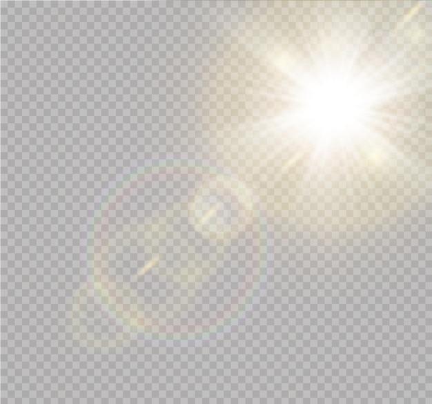Transparant zonlicht speciale lens flitslichteffect frontzon lens flits vervaging in het licht van uitstraling