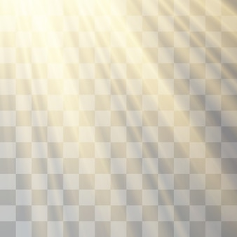 Transparant zonlicht, zaklamp, onscherpte in de uitstraling.