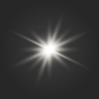 Transparante glansverloopglitter, heldere gloed. glare textuur. glow lichteffect. ster barstte van de glitters