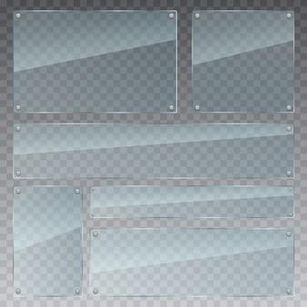 Transparante glas instellen illustratie