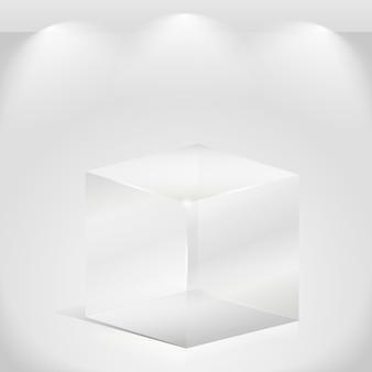 Transparante glazen kubus