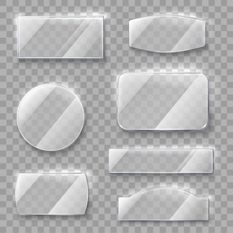 Transparante glazen platen