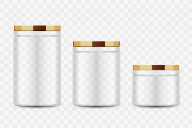 Transparante glazen potten voor inblikken en bewaren. metalen deksel. zelfgemaakte keuken conservering groenten en fruit.