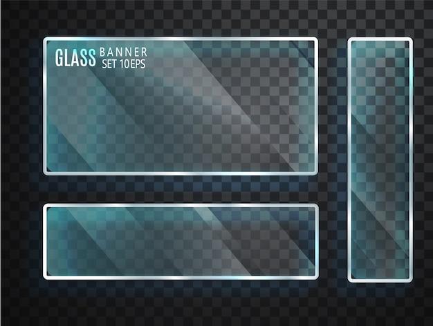 Transparante glazen set
