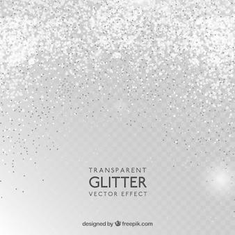 Transparante glitter achtergrond