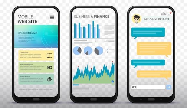 Transparante gsm-schermen illustratie