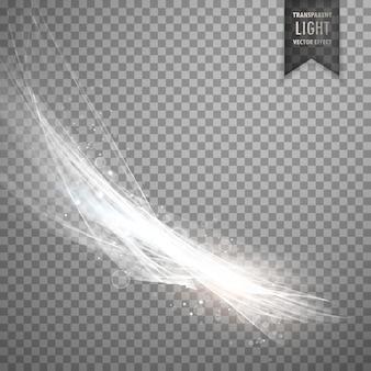 Transparante licht effect achtergrond in witte kleur