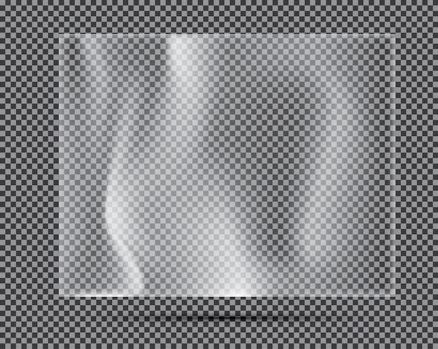 Transparante lichte polyethyleen banner. vectorillustratie.