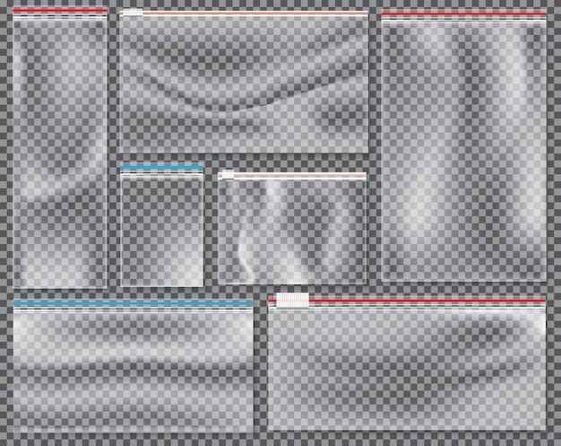 Transparante nylon tas met slot of ritssluiting