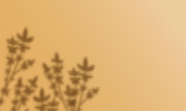 Transparante overlay bloemenschaduw op trendy honing dijon kleur achtergrond.