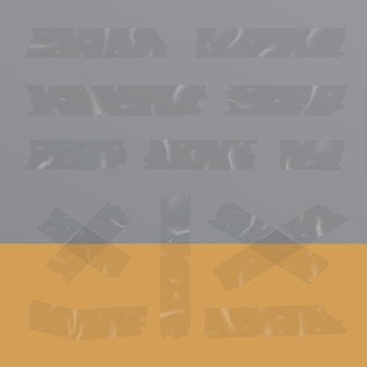 Transparante plakband geïsoleerde vectorillustratie