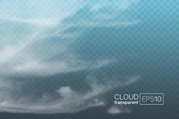 Transparante realistische spindrift wolk. te gebruiken als decoratief element of voor het creëren van een achtergrond.