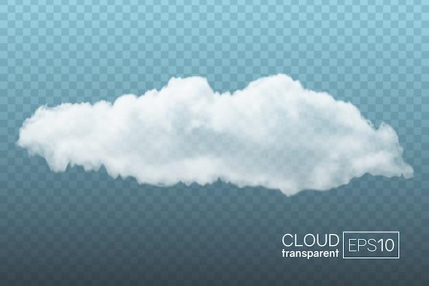 Transparante realistische wolk. kan gebruikt worden als decoratief element of voor het creëren van een
