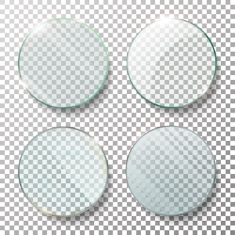 Transparante ronde cirkel set