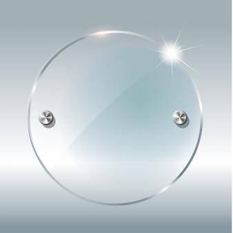 Transparante ronde cirkel.
