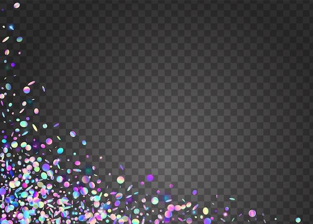 Transparante schittering. metalen flyer. kristal kunst. vervagen kleurrijk sunli