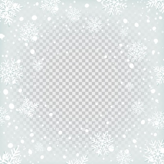Transparante sneeuwachtergrond