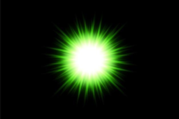 Transparante vector aangepaste lensflare