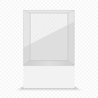 Transparante vitrine van glas