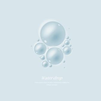 Transparante waterdruppels waterdruppel object