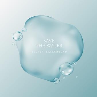 Transparante waterdruppeltjes, waterdaling