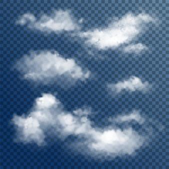 Transparante witte wolken