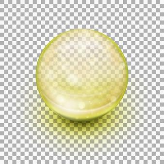 Transparante zachte gelcapsule.