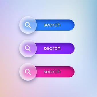 Transparante zoekknoppen