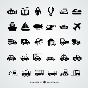 Transport iconen collectie