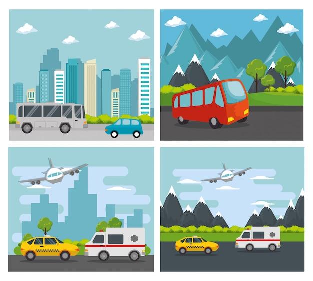 Transport logistiek ingestelde voertuigen