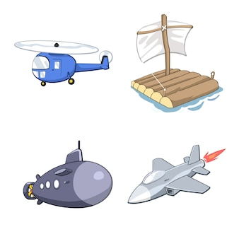 Transport set illustratie