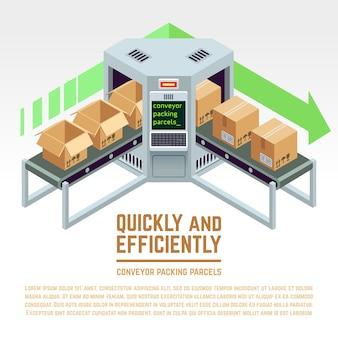 Transportband verpakkingspakketten