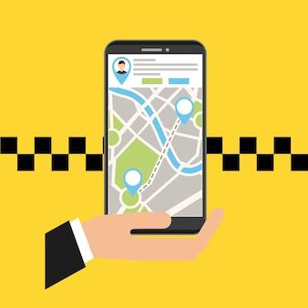 Transportdienst app technologie pictogram