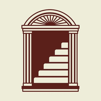Trap logo zakelijke huisstijl illustratie