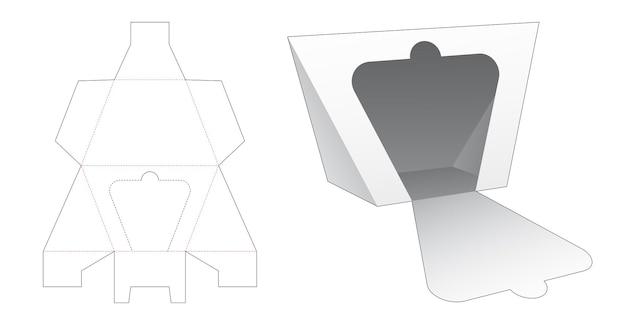 Trapeziumvormige driehoekige verpakking gestanst sjabloon met ritssluiting