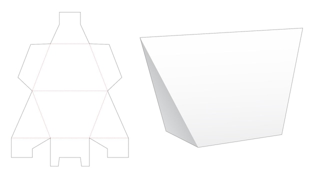 Trapeziumvormige driehoekige verpakking gestanst sjabloon