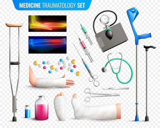 Trauma medische hulpmiddelen ingesteld