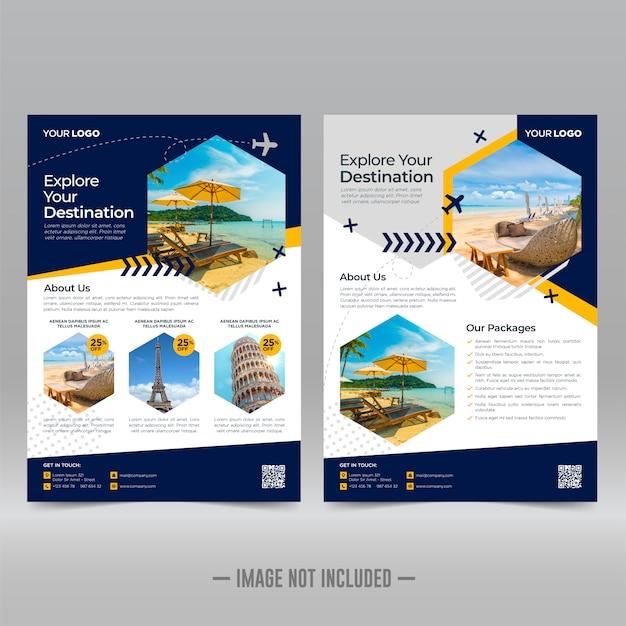 Travel flyer ontwerpsjabloon
