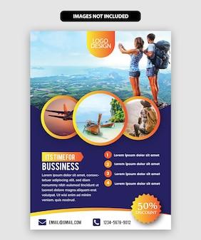 Travel flyer-sjabloon
