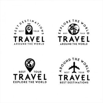 Travel logo beste tour set