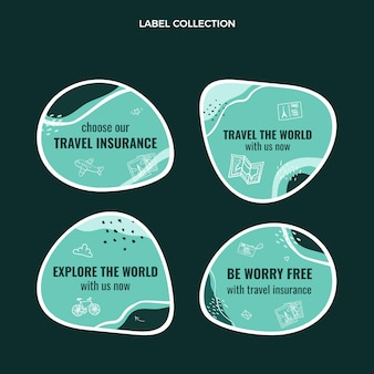 Travel the world labelcollectie