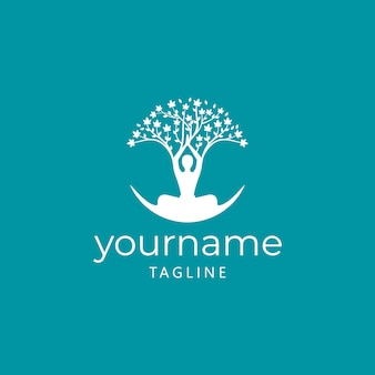Tree of life yoga logo ontwerp
