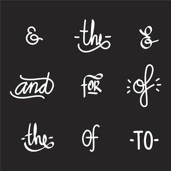 Trefwoord en ampersand verzameling