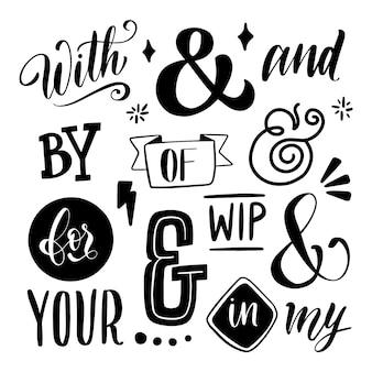 Trefwoord en ampersand-verzameling