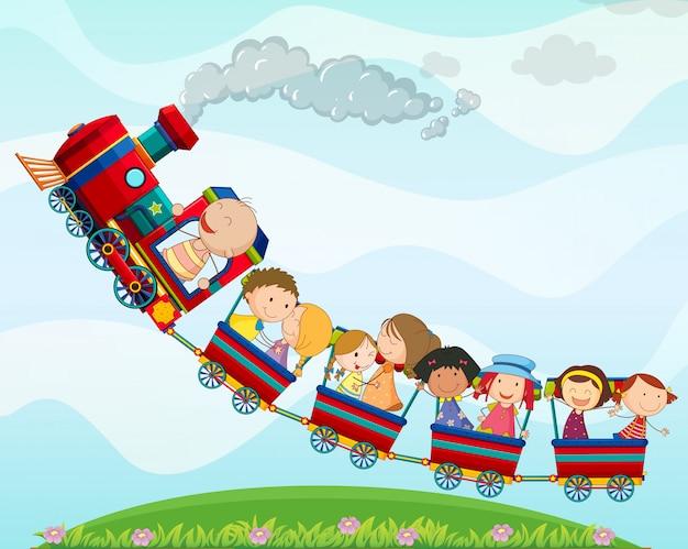 Trein en kinderen